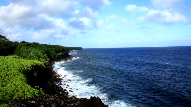 Footage - Pacific Coastline with Beautiful Clouds video