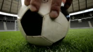 football before the goal video
