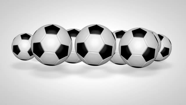 3D football bounce 05 video