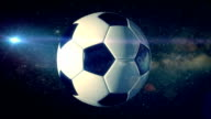 Football in the Space - Loopable video