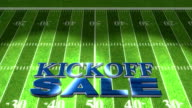 Football Kickoff Sale Blue Title Animation HD video