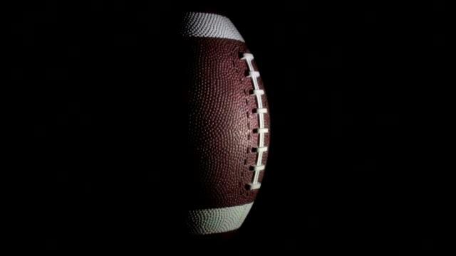 Football on black - HD video