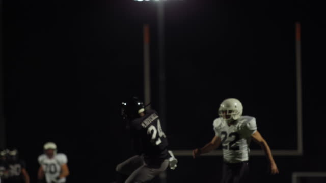 A football player almost misses a pass and then makes a touchdown and lays on the ground video