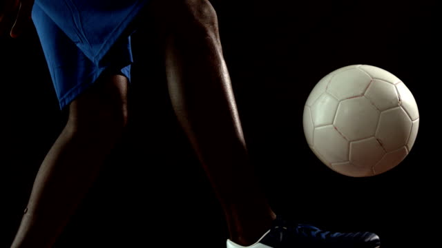 Football player controlling the ball video