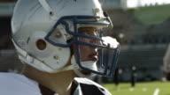 Football player looks around video