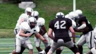 Football Player Runs and Breaks Tackles video