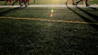 Les joueurs de Football, Running ombres - Vidéo