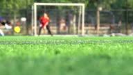 football shooting and saving video