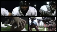 Football snap in different angles video