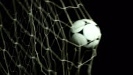 Football / Soccer ball into net - Scoring a Goal video