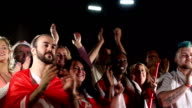Football / soccer fans, crowd, supporters,  Clapping & Chanting video