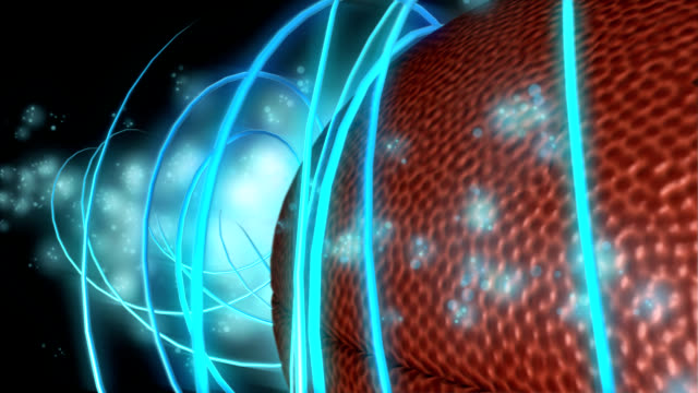 Football Spiral Graphic Wipe with Alpha Matte video