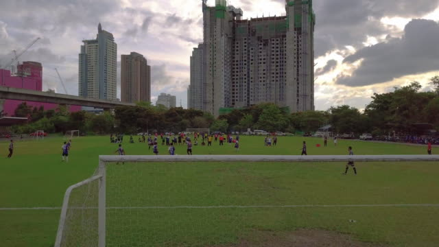 Football Training Outside in the City center of Bangkok video