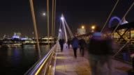Footbridge time lapse video