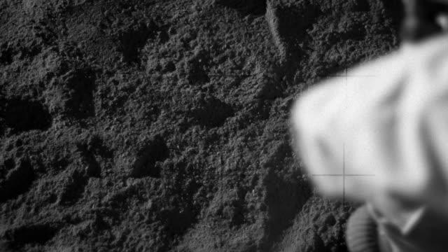 Footprint on Moon video