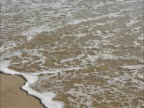 Footprints in the sand on beach video