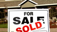 For Sale Sign in Front of House video