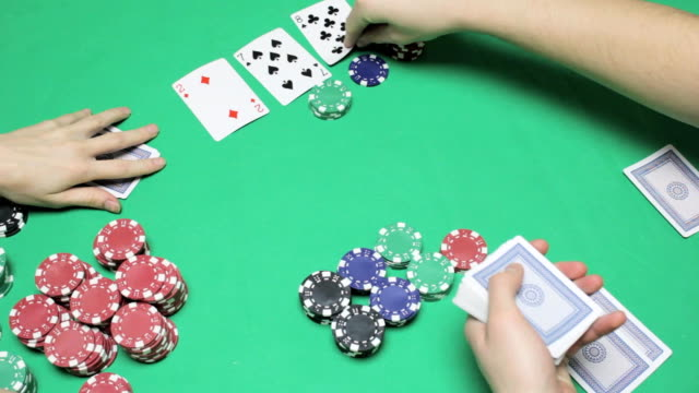 For table poker three cards are the flop video
