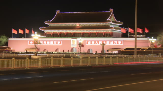 Forbidden City night time lapse HD video