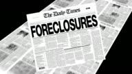 Foreclosures - Newspaper Headline video