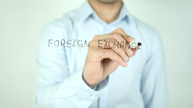 Foreign Exchange Market, Forex,, Writing On Transparent Screen video