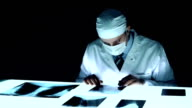 Forensic Investigator Collecting Evidence Bones x ray Murder video