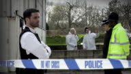 Forensic search and police officers video