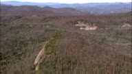 Forest Around Wolf Creek Lake  - Aerial View - North Carolina,  Jackson County,  United States video