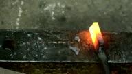 Forging hot iron video