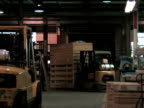 Forklift in Factory video