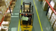 Forklift Operator Working In The Warehouse video