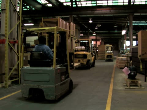 Forklifts in Factory video