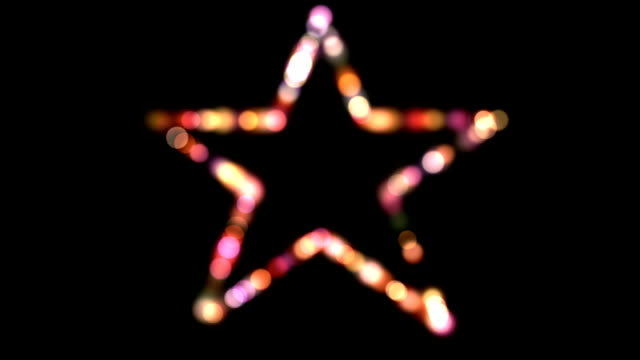 Form of five-pointed star. video