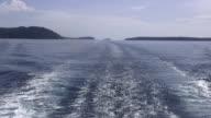 HD Format : Beautiful blue Pacific Ocean ship bow wave wake. video