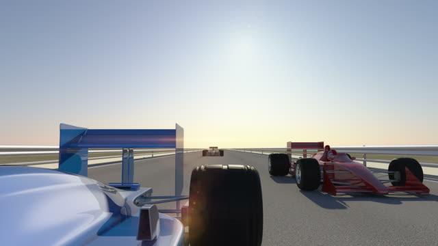 Formula 1 Race Car Wins - Rear Camera video