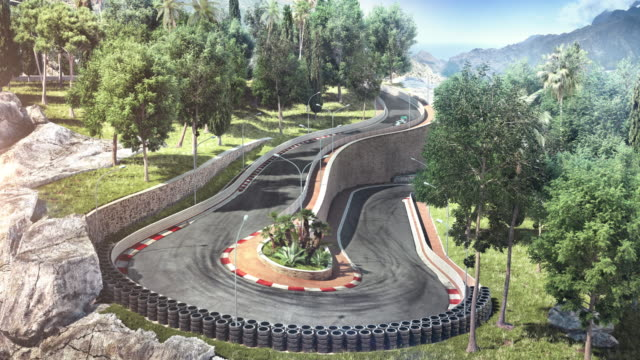 Formula One Racing Car on the track video