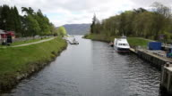 Fort Augustus Scotland UK Caledonian canal meets Loch ness video