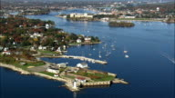 Fort Constitution - Aerial View - New Hampshire,  Rockingham County,  United States video