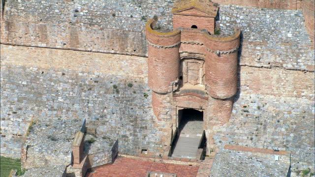 Fort De Salses  - Aerial View - Languedoc-Roussillon, Pyrénées-Orientales, Arrondissement de Perpignan, France video