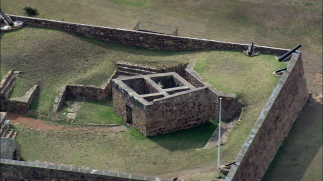 Fort Frederick  - Aerial View - Eastern Cape,  South Africa video