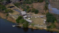 Fort King George  - Aerial View - Georgia,  McIntosh County,  United States video
