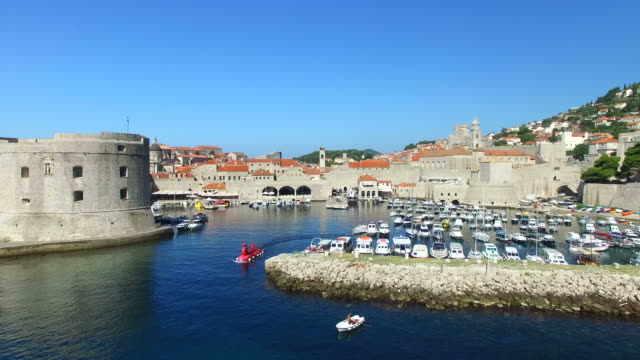 Fort St. Ivan and Old town harbour in Dubrovnik video
