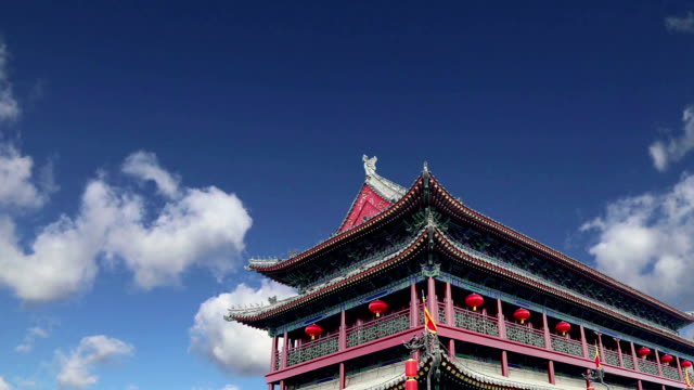 Fortifications of Xian (Sian, Xi'an) an ancient capital of China-- represent one of the oldest and best preserved Chinese city walls video