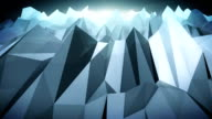 Forward moving abstract lowpoly vector dark background.2 video