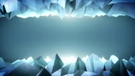 Forward moving abstract lowpoly vector dark background.4 video