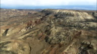 Fossil Butte National Monument - Aerial View - Wyoming, Lincoln County, United States video