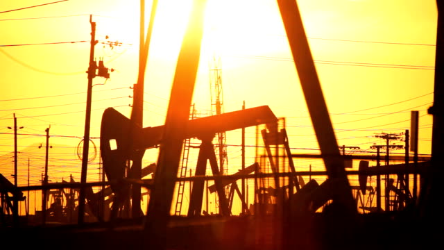 Fossil Fuel Production at Sunset video