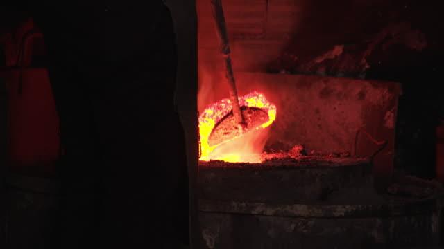 4K: Foundry furnace video