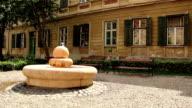 Fountain and Benches in a Baroque Garden video