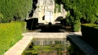 Fountain and pond in the Alhambra palace of Granada, Spain. video